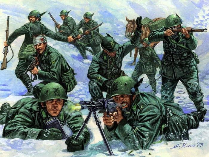 Военные картины Giuseppe Rava