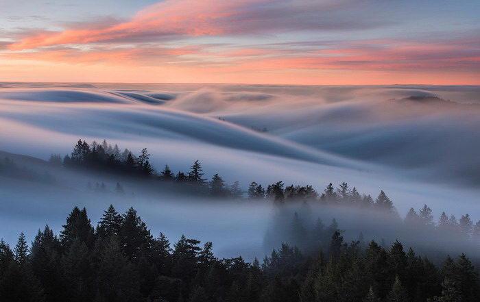 Рассвет над Сан-Франциско: фото Nick Steinberg