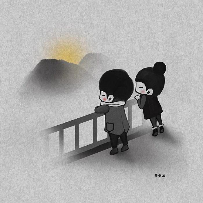 Любовь в иллюстрациях Young Joo Kim