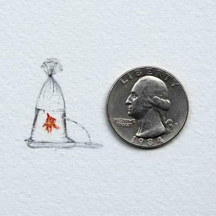 Миниатюрные рисунки Rachel Beltz