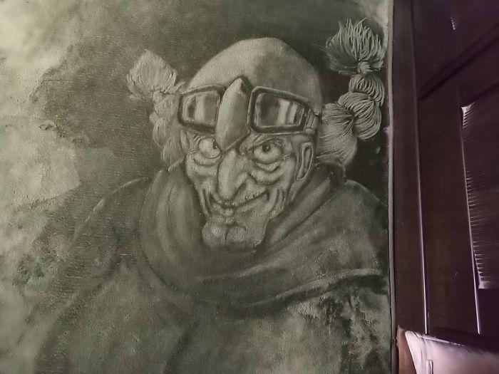 Рисунки на ковре с длинным ворсом agito0219