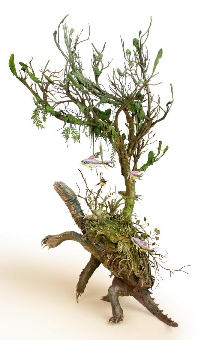 Скульптуры птиц и рыб Ellen Jewett