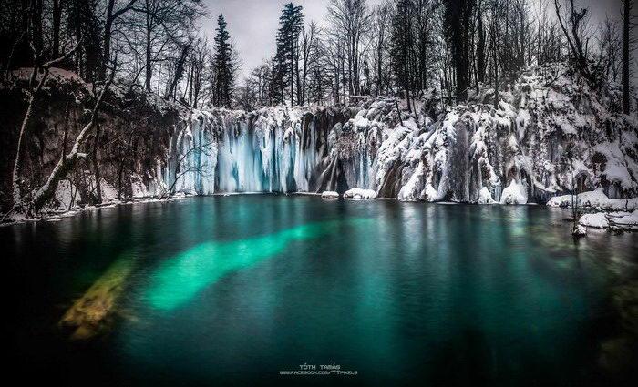 Зимние Плитвицкие озера в фотографиях Tamas Toth