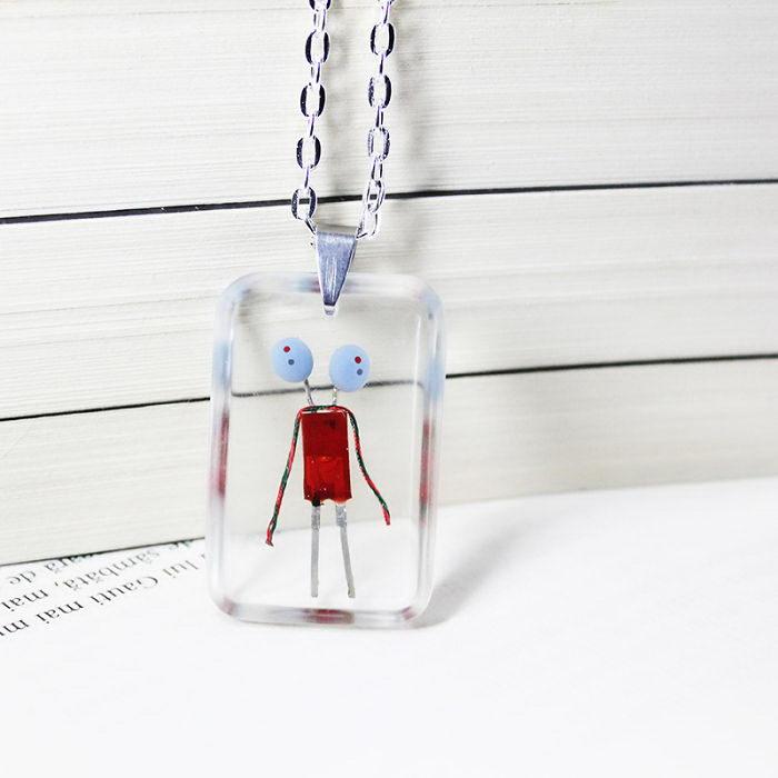 Кулоны на шею с роботами: магазинчик 11pixeli