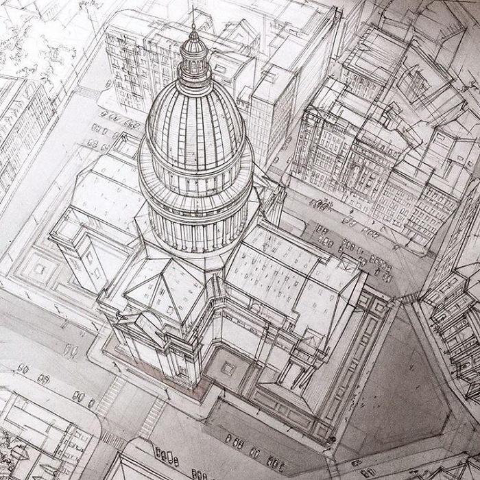 Архитектурные скетчи Adelina Gareeva