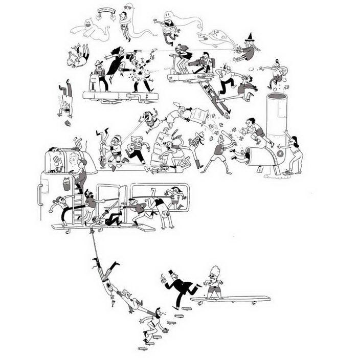 Каждый день — по новому персонажу: рисунки Tom Gran