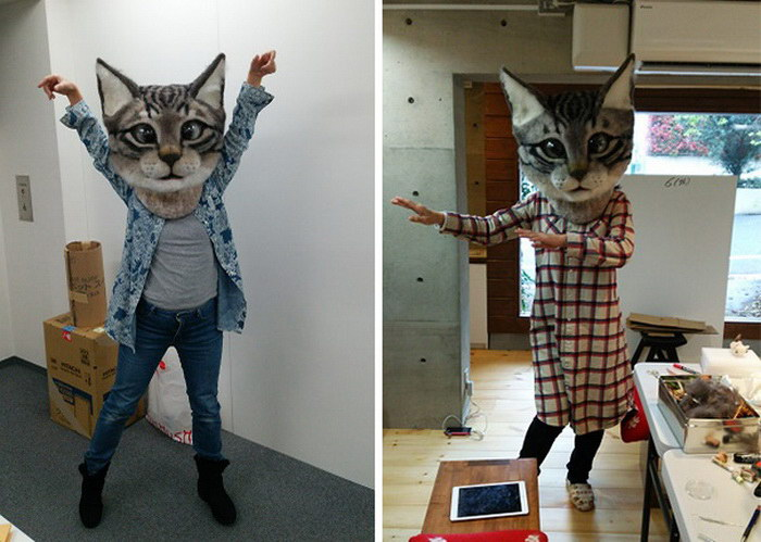 Гигантская голова кошки: новое изобретение японцев