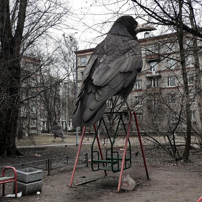 Гигантские животные в русских городах: проект Вадима Соловьева