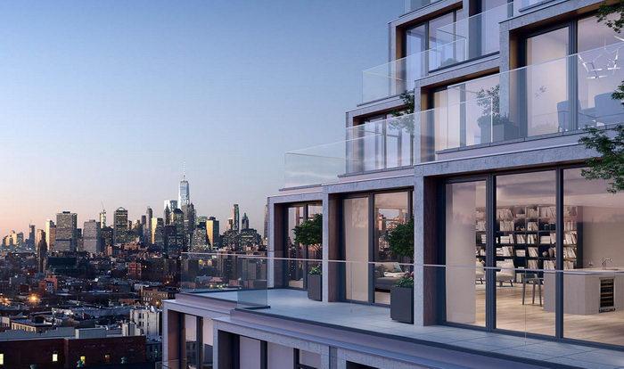 Красивый дом в Бруклине с видом на Манхэттен