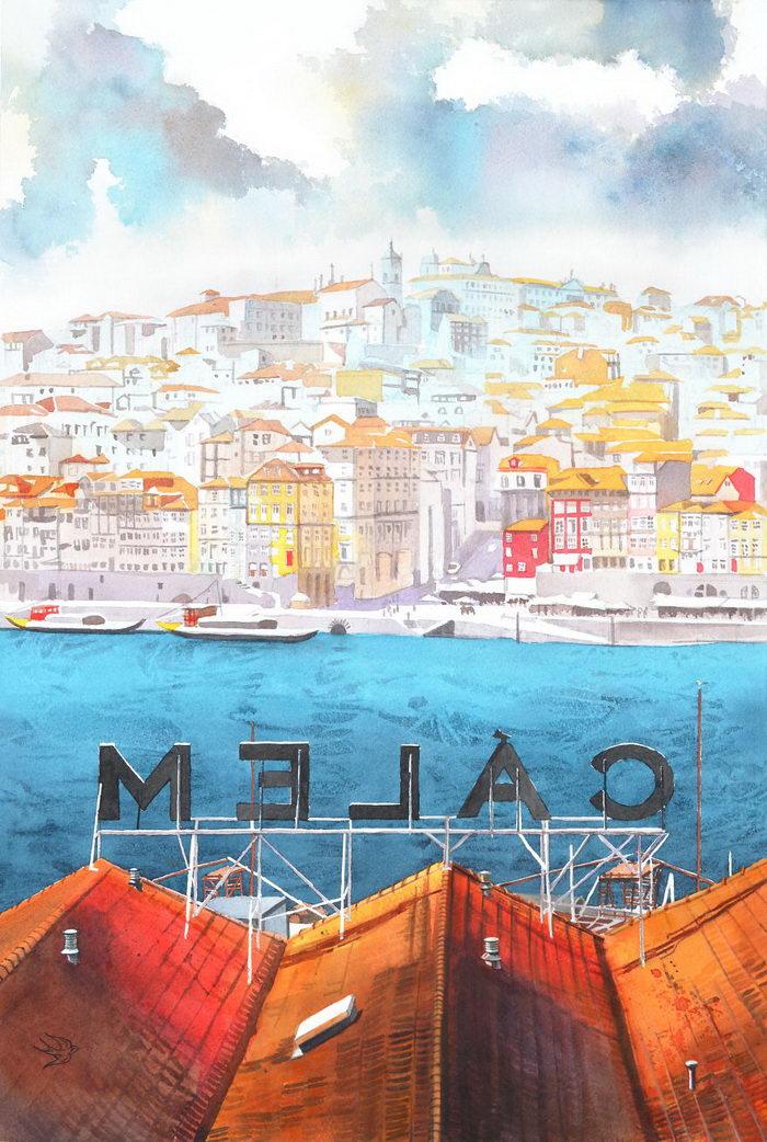 Португалия в рисунках Виктории Кравченко