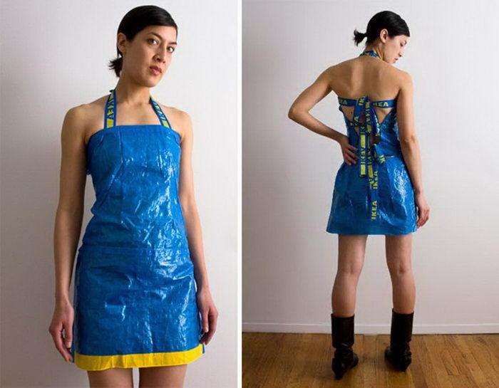 Одежда из синей сумки IKEA