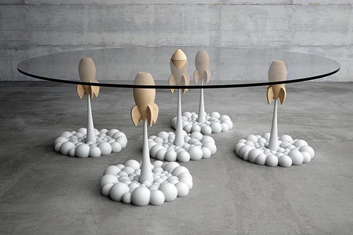 Космический столик для кофе авторства Stelios Mousarris