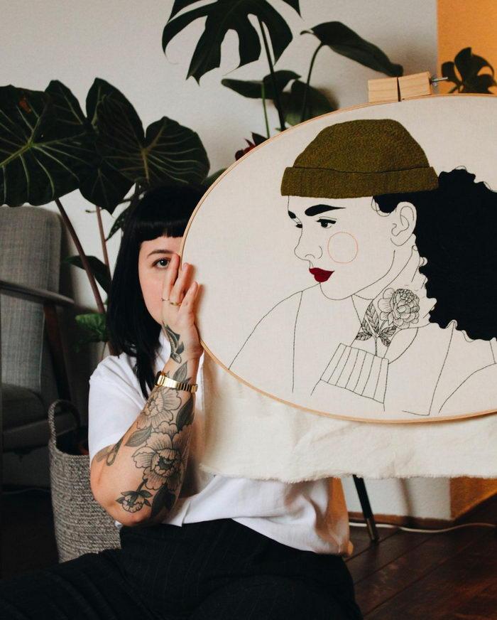 Стильные вышивки Giselle Quinto