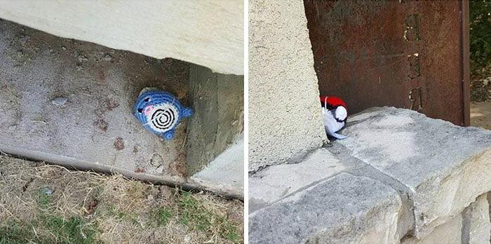 Вместо игры — спрятанные вязанные Покемоны Knotty Nicole