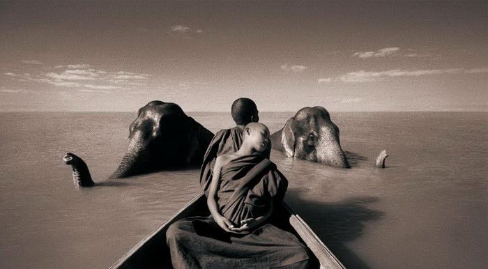 Люди и животные в фотографиях Gregory Colbert