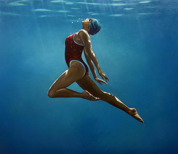 Плавающие женщины: картины Eric Zener