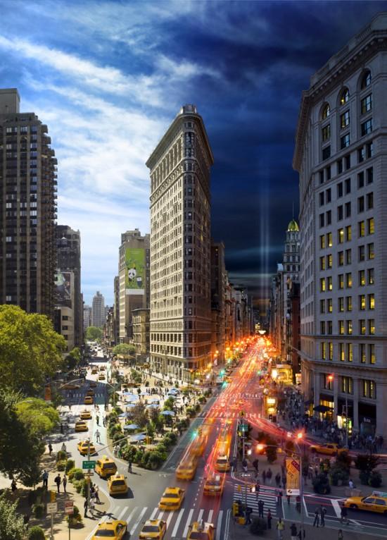 Великий Нью-Йорк в разное время суток