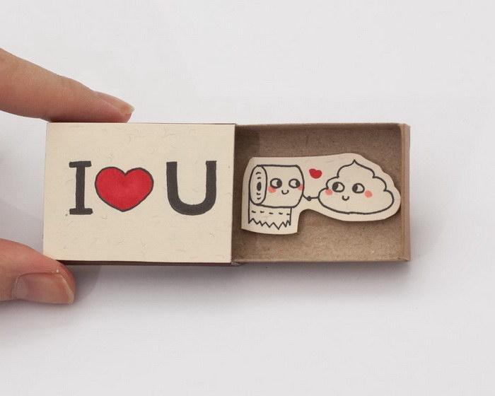Спичечные коробки с прекрасными пожеланиями