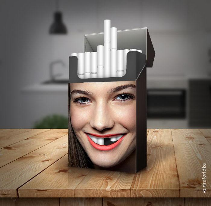 Креативная пачка сигарет: проект Miroslav Vujovic Graforidza