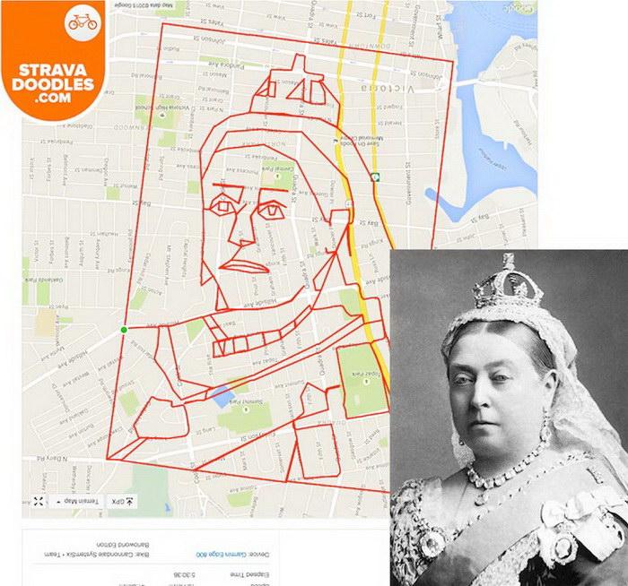 GPS-рисунки канадского художника Stephen Lund
