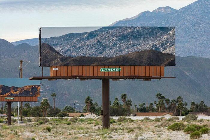 Художник заменяет биллборды фотографиями закрываемых достопримечательностей