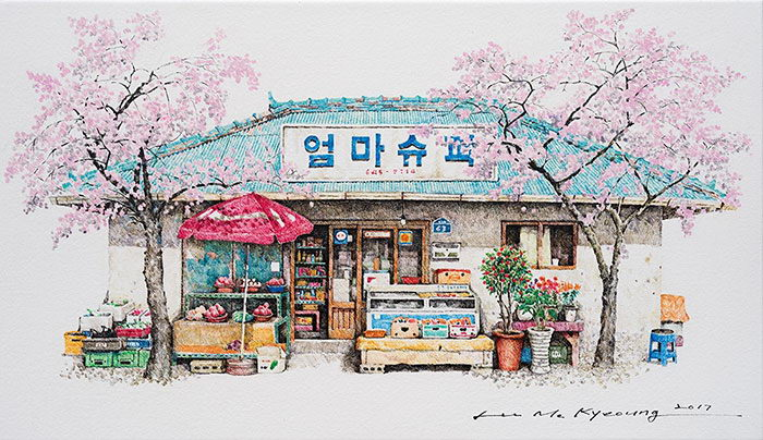 Скетчи повседневной жизни Me Kyeoung Lee