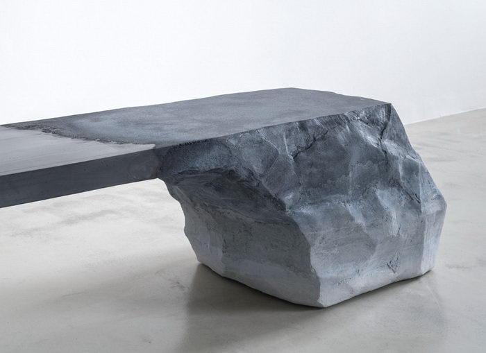 Почти каменная мебель Fernando Mastrangelo