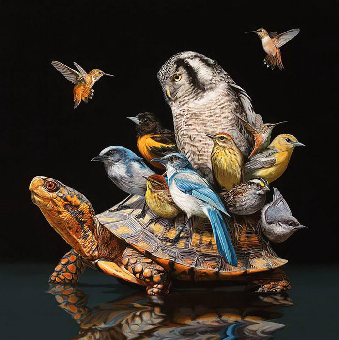 Несовместимые животные вместе: картины Lisa Ericson