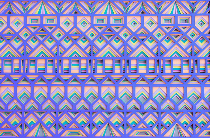 Узоры из слоев бумаги Maud Vantours