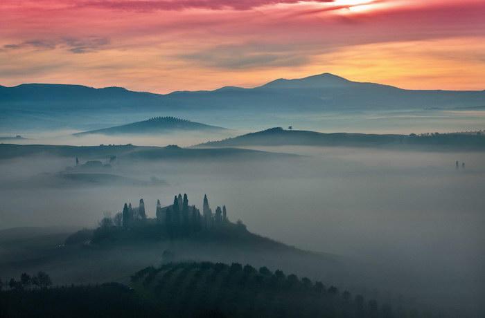 Тосканские пейзажи Mauro Maione