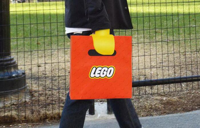 Креативная сумка c Lego-ручкой