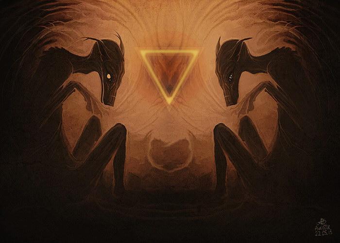 Языческие животные в картинах Viktor Led