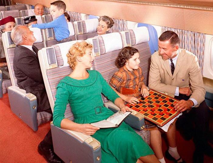 Как летали на самолетах в середине XX века