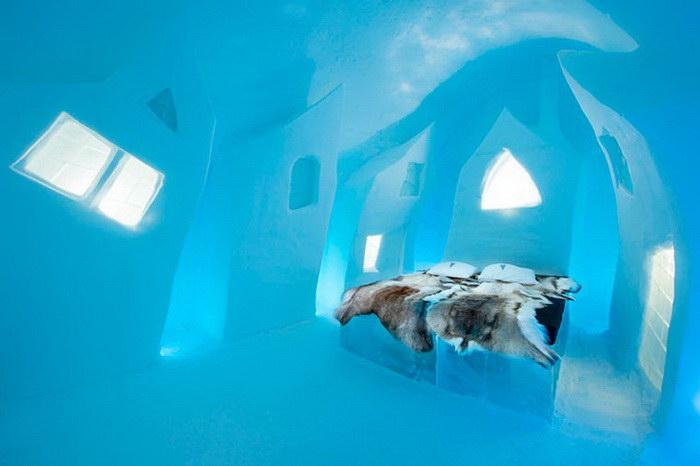 В шведской глубинке открылся ледяной отель для избалованных путешественников