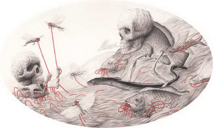 Черепа в иллюстрациях Nick Sheehy