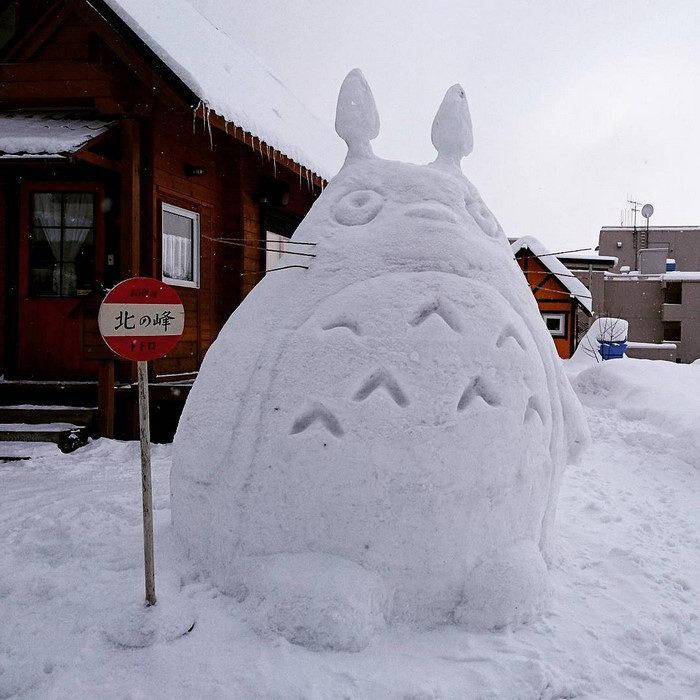 Креативные снеговики Киото