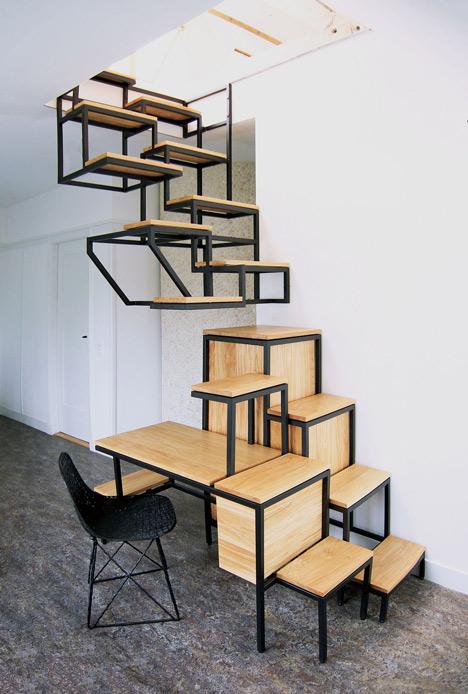 Лестница, способная сэкономить массу пространства