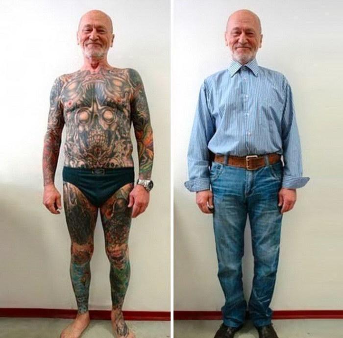 20 татуированных стариков, которые и в пожилом возрасте выглядят роскошно