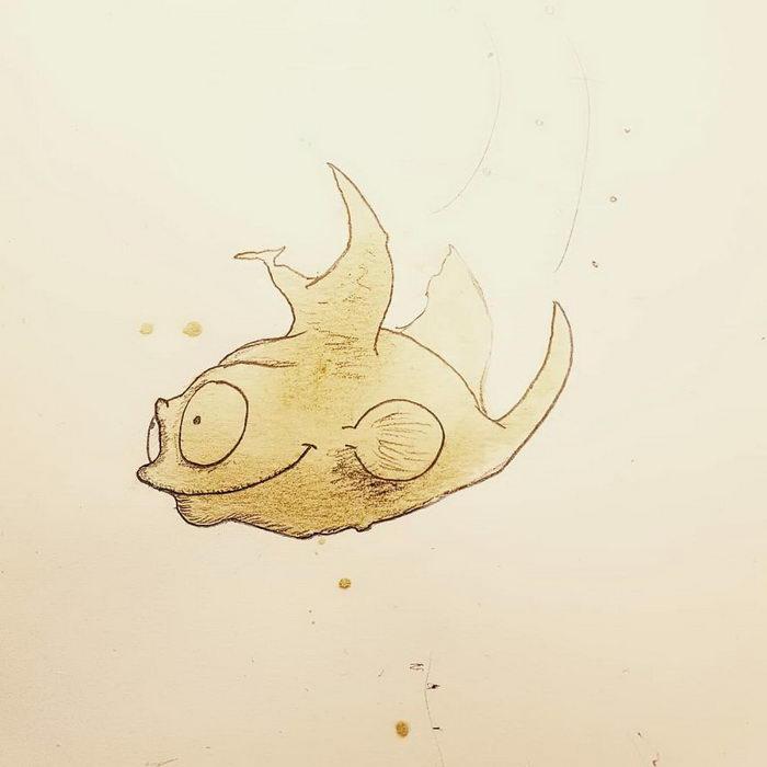 Кофейные рисунки Stefan Kuhnigk