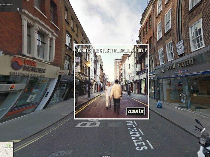 Знаменитые обложки альбомов в Google Street View