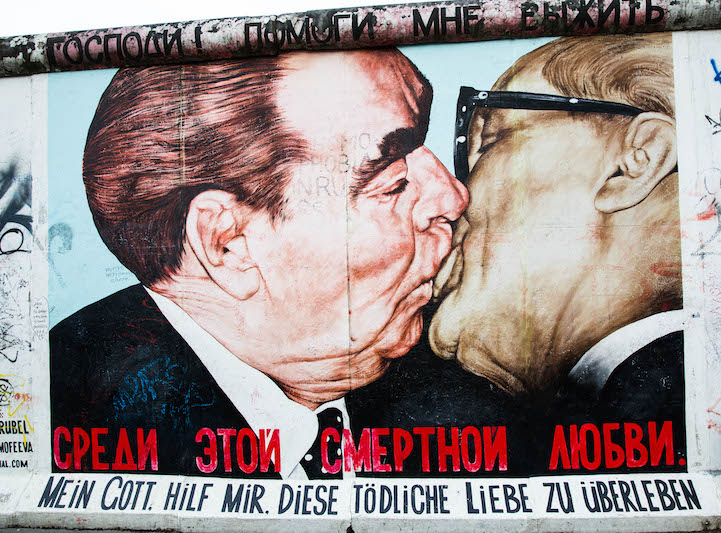 Рисунки Берлинской Стены
