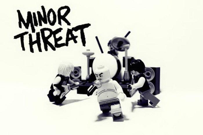 Известные музыкальные группы в виде Lego-фигурок