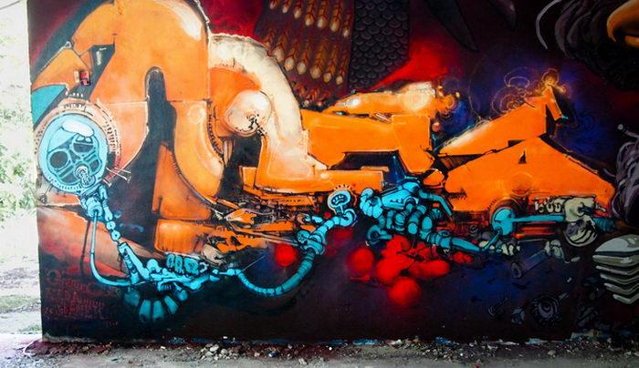 Яркие граффити Pere Banek
