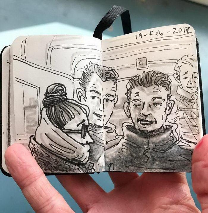 Скетчи жителей Амстердама Rachelle Meyer