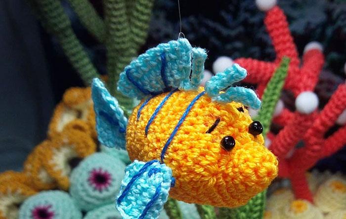 Вязанный аквариум Lindadi Creations
