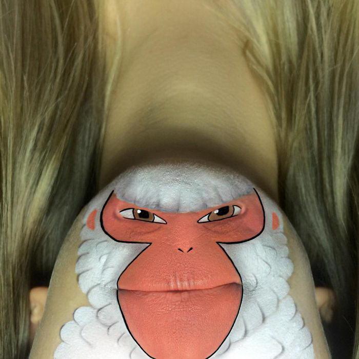 Персонажи на губах Laura Jenkinson