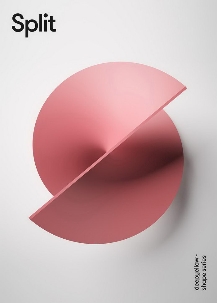 Минималистические плакаты дизайн-студии Deepyellow