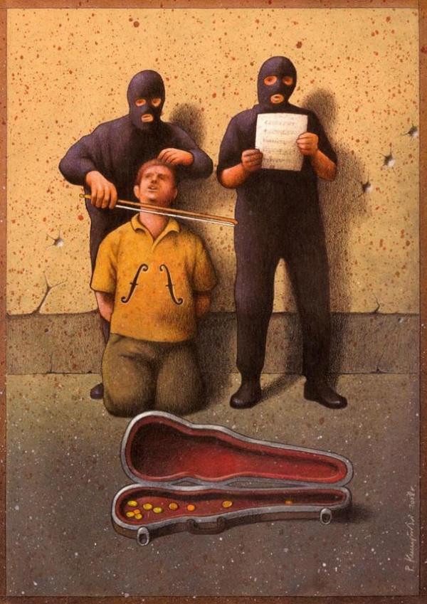 Забавные карикатуры польского художника
