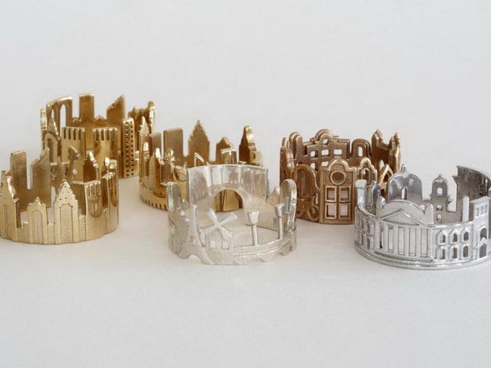 Кольца-города работы Ola Shekhtman