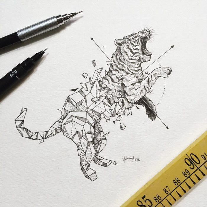 Животные в рисунках Kerby Rosanes